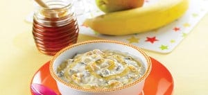 Honey Porridge and Peaches