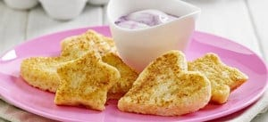 French Toast Shapes with Yoghurt