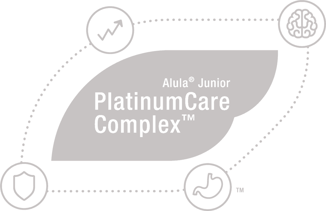 Alula® Junior PlatinumCare Complex™ text icon