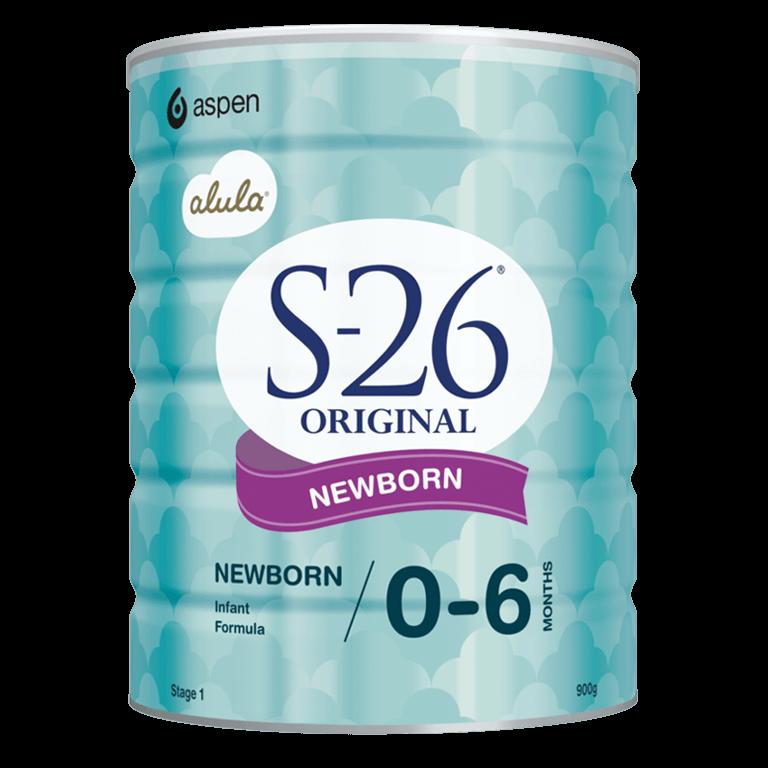 A can of S-26 Original Newborn Infant Formula in 900g